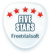 5 Star Rating at FreeTrialSoft.com
