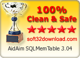100% Clean and Safe to install Soft32Download Award: Product is 100% clean of adware/spyware/trojans/viruses and it is safe to install